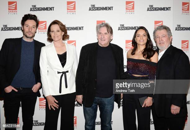 Jonathan Saba Sigourney Weaver Denis Hamill Michelle Rodriguez and Director Walter Hill attend 'The Assignment' screening at the Whitby Hotel on...