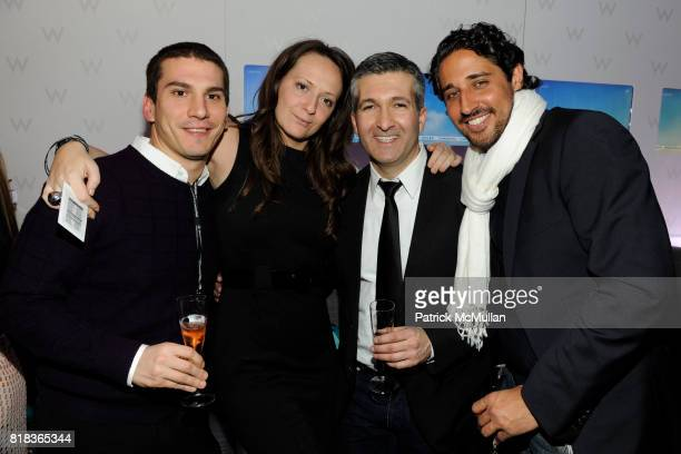 Jonathan Sabatini Pippa Mcardle Carlos Becil and Michelangelo L'Acqua attend Cocktails in honor of W Hotels' newly appointed Fashion Director at W...