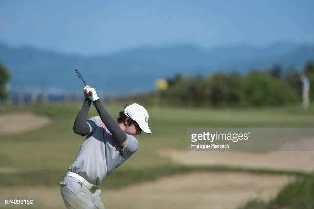 Jonathan Sanders of the United States tees off on the 15th hole during the third round of the PGA TOUR Latinoamérica Honduras Open presented by...