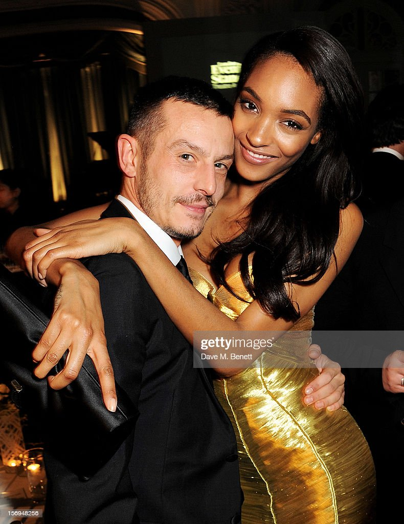 Jonathan Saunders (L) and <a gi-track='captionPersonalityLinkClicked' href=/galleries/search?phrase=Jourdan+Dunn&family=editorial&specificpeople=4347612 ng-click='$event.stopPropagation()'>Jourdan Dunn</a> attend an after party following the 58th London Evening Standard Theatre Awards in association with Burberry at The Savoy Hotel on November 25, 2012 in London, England.