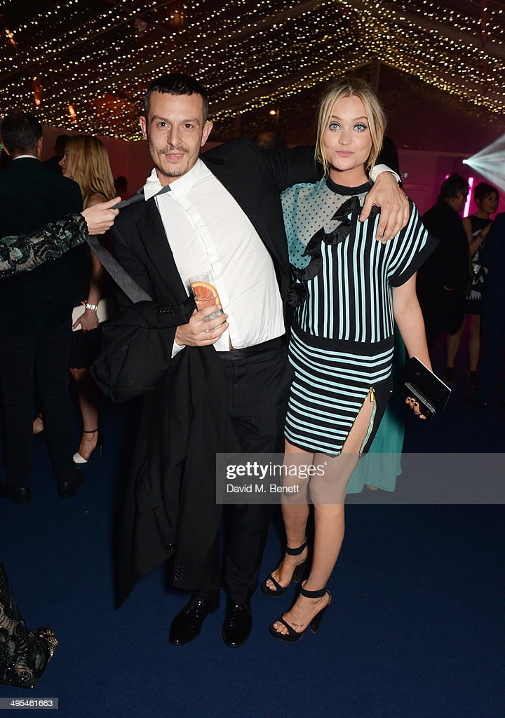 <a gi-track='captionPersonalityLinkClicked' href=/galleries/search?phrase=Jonathan+Saunders+-+Fashion+Designer&family=editorial&specificpeople=4892051 ng-click='$event.stopPropagation()'>Jonathan Saunders</a> (L) and <a gi-track='captionPersonalityLinkClicked' href=/galleries/search?phrase=Laura+Whitmore&family=editorial&specificpeople=5599316 ng-click='$event.stopPropagation()'>Laura Whitmore</a> attend the Glamour Women of the Year Awards after party in Berkeley Square Gardens on June 3, 2014 in London, England.