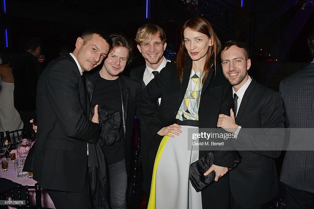 Jonathan Saunders Christopher Kane Christopher de Vos Roksanda Ilincic and Peter Pilotto attend the Elle Style Awards 2014 after party at One...