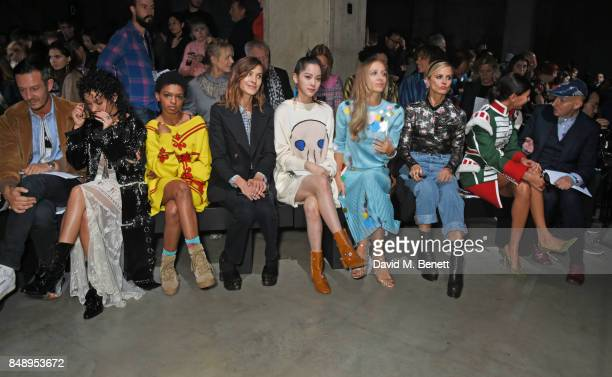 Jonathan Saunders FKA Twigs Selah Marley Alexa Chung Nana Harley Viera Newton Laura Bailey Giovanna Battaglia Engelbert and Stephen Jones attend the...
