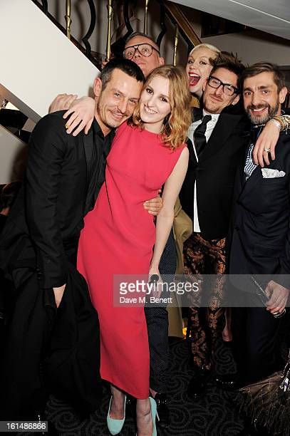Jonathan Saunders Laura Carmichael Giles Deacon Gwendoline Christie Henry Holland and David Waddington attend the after party following the Elle...