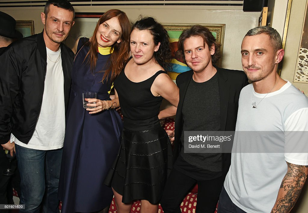 Jonathan Saunders Roksanda Ilincic Katie Grand Christopher Kane and Richard Nicoll attend the LOVE Christmas party at George on December 18 2015 in...