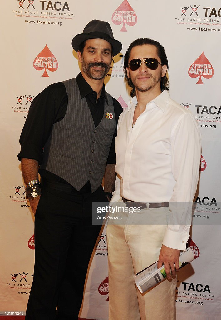 Jonathan Schaech and Clifton Collins Jr. attend the Ante-Up for Autism Event at St. Regis Monarch Beach Resort on November 5, 2011 in Dana Point, California.