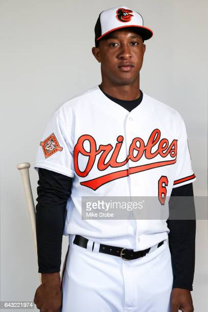 Jonathan Schoop of the Baltimore Orioles poses for a portait during a MLB photo day at Ed Smith Stadium on February 20 2017 in Sarasota Florida