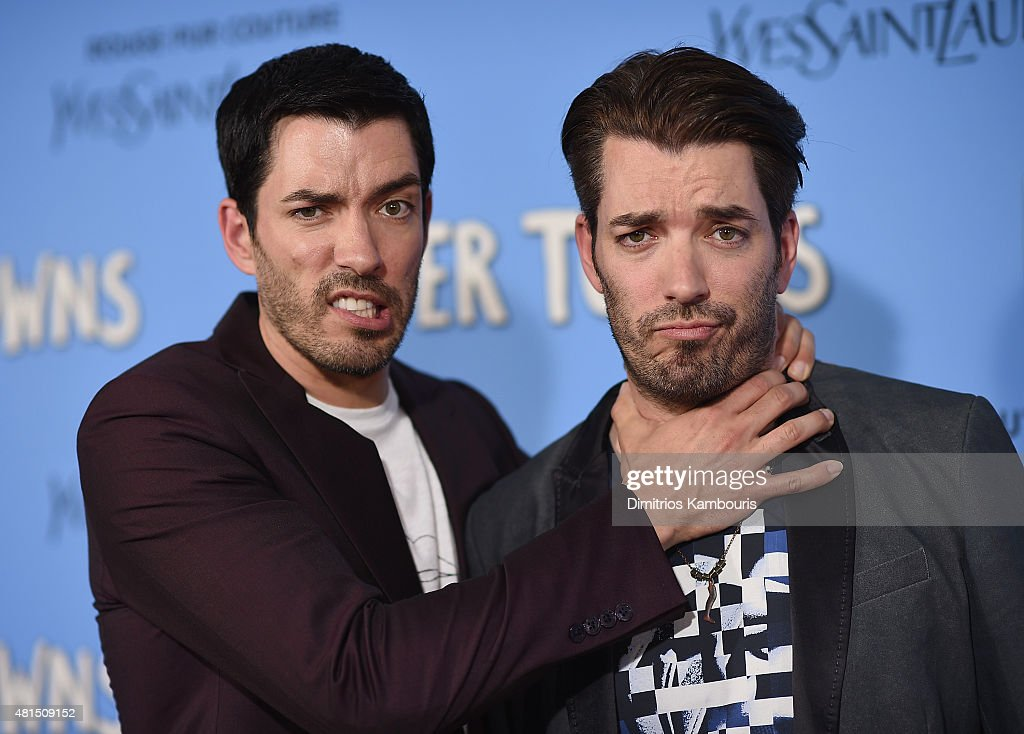 Jonathan Scott and Drew Scott attend the 'Paper Towns' New York Premiere at AMC Loews Lincoln Square on July 21, 2015 in New York City.