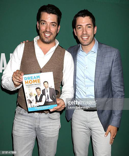 Jonathan Scott and Drew Scott sign copies of their book 'Dream Home' at Barnes Noble Union Square on April 4 2016 in New York City