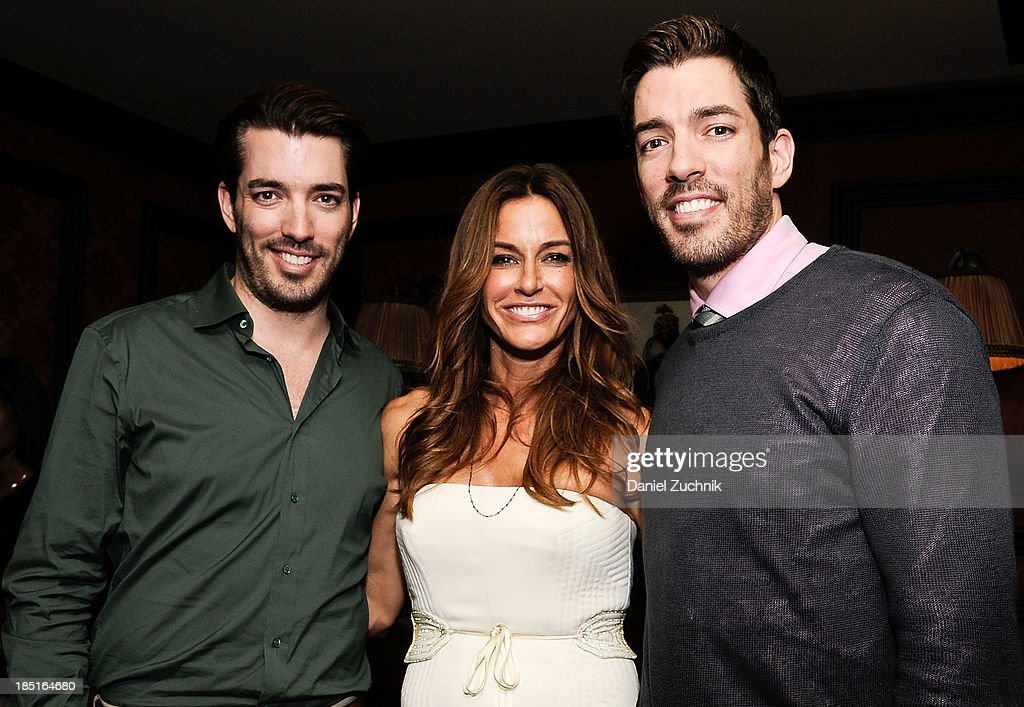 Jonathan Scott, Kelly Bensimon and <a gi-track='captionPersonalityLinkClicked' href=/galleries/search?phrase=Drew+Scott+-+Canadian+Actor&family=editorial&specificpeople=15095917 ng-click='$event.stopPropagation()'>Drew Scott</a> attend Kelly Bensimon's 'In The Spirit Of' fragrance launch event at Cherry on October 17, 2013 in New York City.