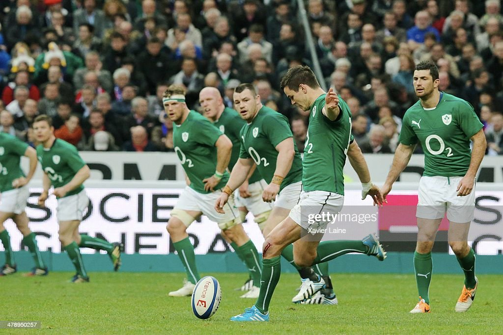 Jonathan Sexton of Ireland during the RBS 6 Nations match between France and Ireland at Stade de France on march 15, 2014 in Paris, France.