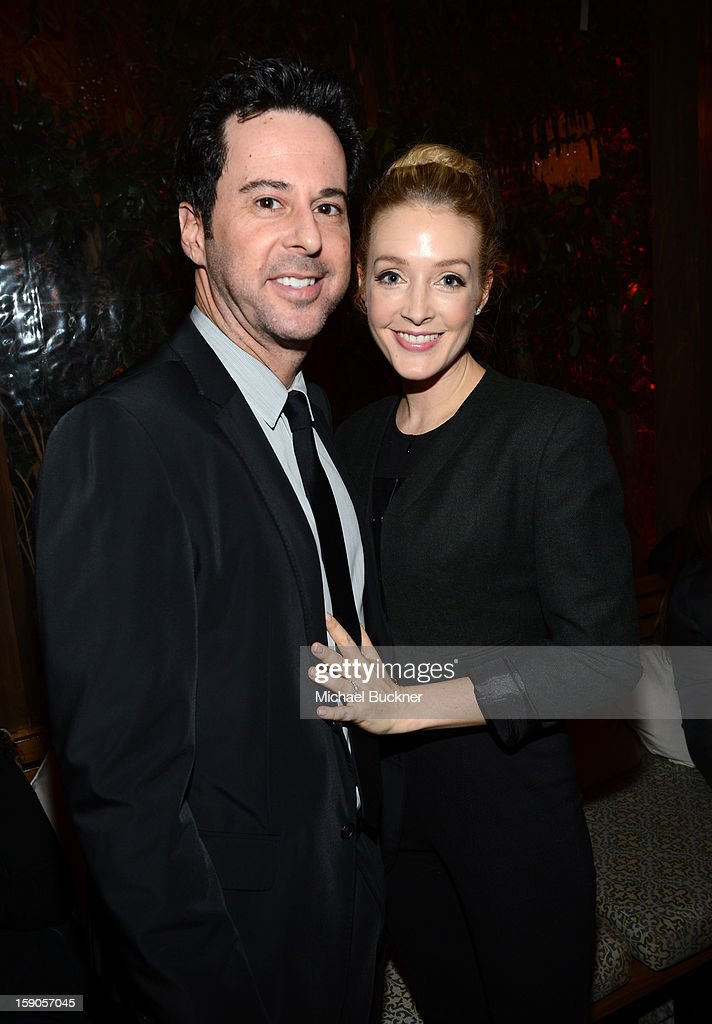 Jonathan Silverman and Jennifer Finnegan attend the Audi Golden Globes Kick Off 2013 at Cecconi's Restaurant on January 6, 2013 in Los Angeles, California.