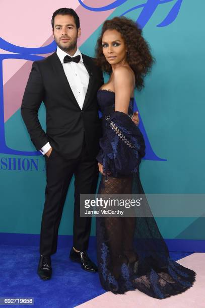 Jonathan Simkhai and Janet Mock attend the 2017 CFDA Fashion Awards at Hammerstein Ballroom on June 5 2017 in New York City