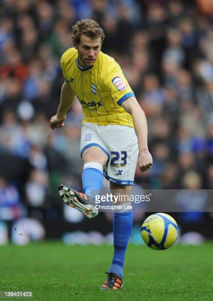 Jonathan Spector of Birmingham City in action during the FA Cup with Budweiser Fifth Round match between Chelsea and Birmingham City at Stamford...