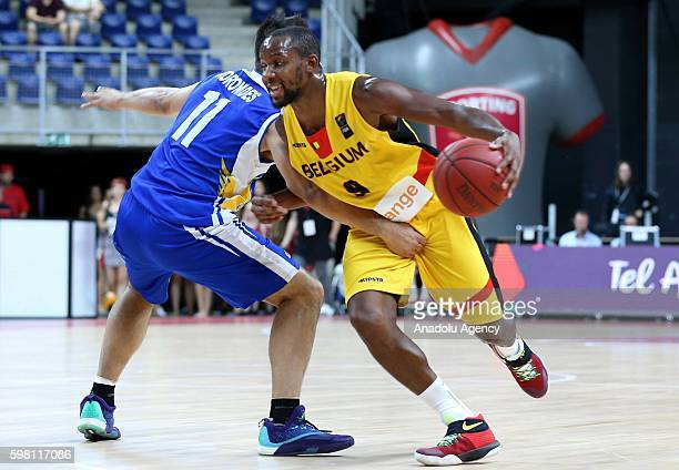 Jonathan Tabu of Belgium in action during Eurobasket 2017 Qualification Match between Belgian Basketball team and Greek Cypriot basketball team at...