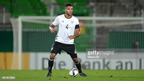 Jonathan Tah of Germany controls the ball during the 2017 UEFA European U21 Championships Qualifier between U21 Germany and U21 Austria at Stadion am...