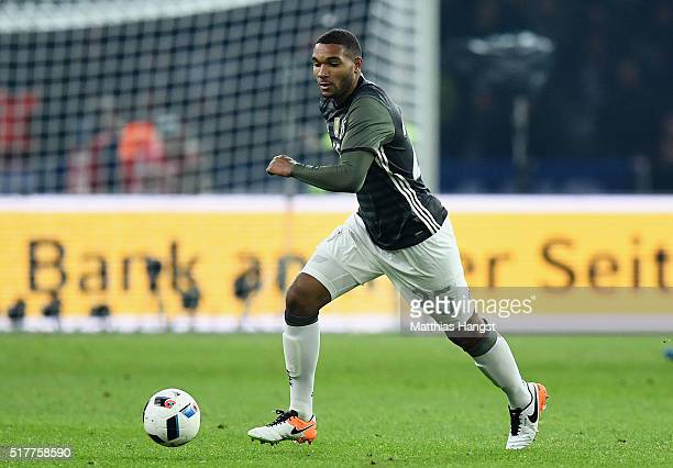 Jonathan Tah of Germany controls the ball during the International Friendly match between Germany and England at Olympiastadion on March 26 2016 in...