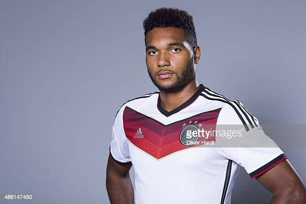 Jonathan Tah of Germany poses during the team presentation of Germany U21on August 31 2015 in Hamburg Germany