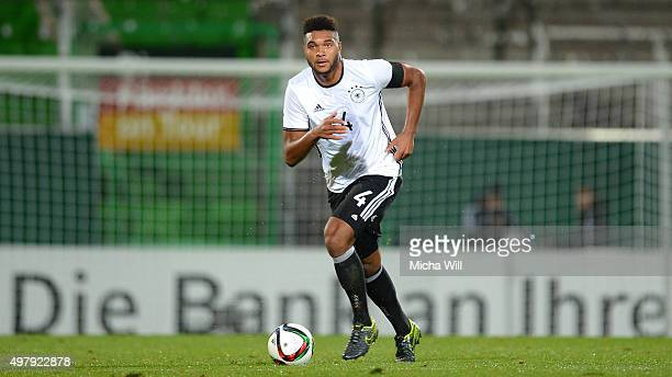 Jonathan Tah of Germany runs with the ball during the 2017 UEFA European U21 Championships Qualifier between U21 Germany and U21 Austria at Stadion...