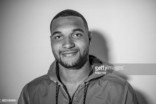 Jonathan Tah of Leverkusen poses during presentation of a new Under Armour ClutchFit 30 on January 23 2017 in Dusseldorf Germany