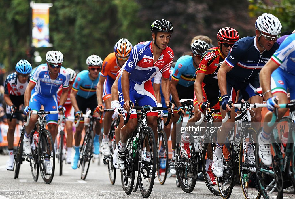 Jonathan Tiernan-Locke of Great Britain of climbs The Cauberg during the Men's Elite Road Race on day eight of the UCI Road World Championships on September 23, 2012 in Valkenburg, Netherlands.