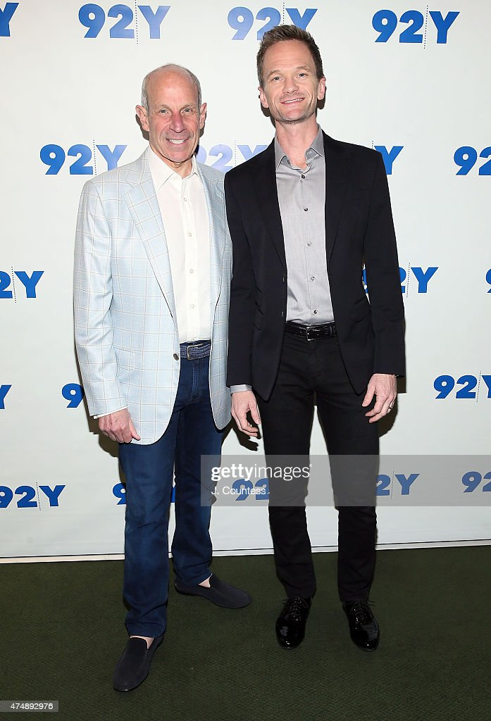 Jonathan Tisch and actor Neil Patrick Harris pose for a photo at the 92nd Street Y Presents Neil Patrick Harris In Conversation With Jonathan Tisch...