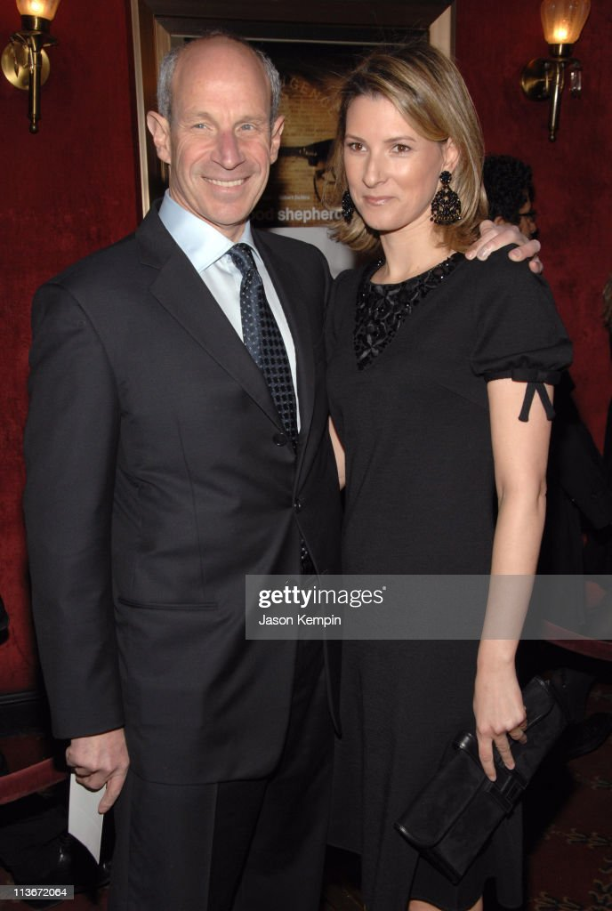 Jonathan Tisch and guest during 'The Good Shepherd' New York Premiere Inside Arrivals at Ziegfeld Theater in New York City New York United States