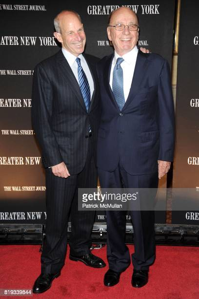 Jonathan Tisch and Rupert Murdoch attend THE WALL STREET JOURNAL's 'GREATER NEW YORK' Launch Celebration at Gotham Hall on April 26th 2010 in New...