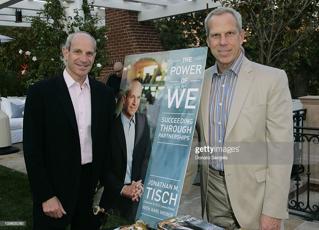 Jonathan Tisch and Steve Tisch during Jonathan Tisch 'The Power Of We' Book Party at Private Residence in Beverly Hills California United States