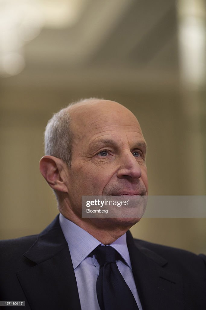 Jonathan Tisch, co-chairman of New York-based Loews Corp., listens during an interview at the newly renovated Loews Regency Hotel on Park Avenue in New York, U.S., on Tuesday, Dec. 17, 2013. 'We've been getting a lot of interest in the hotel,' said Tisch. 'We anticipate we'll get good returns on our investment.' Photographer: Victor J. Blue/Bloomberg via Getty Images