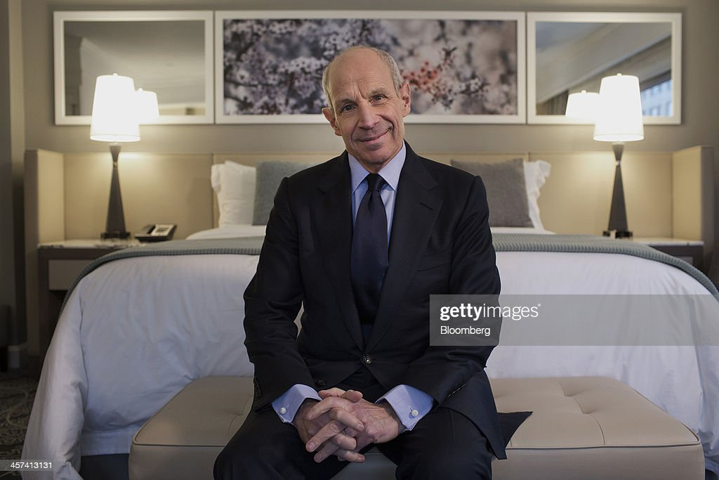Jonathan Tisch, co-chairman of New York-based Loews Corp., sits for a photograph in a room at the newly renovated Loews Regency Hotel on Park Avenue in New York, U.S., on Tuesday, Dec. 17, 2013. 'We've been getting a lot of interest in the hotel,' said Tisch. 'We anticipate we'll get good returns on our investment.' Photographer: Victor J. Blue/Bloomberg via Getty Images