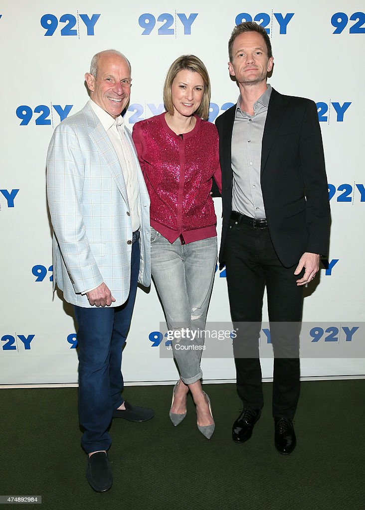 Jonathan Tisch Lizzie Tisch and actor Neil Patrick Harris pose for a photo at the 92nd Street Y Presents Neil Patrick Harris In Conversation With...