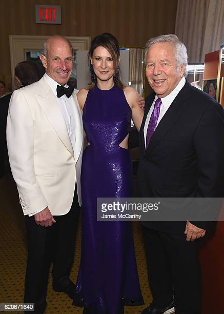 Jonathan Tisch Lizzie Tisch and Robert Kraft attend 15th Annual Elton John AIDS Foundation An Enduring Vision Benefit at Cipriani Wall Street on...