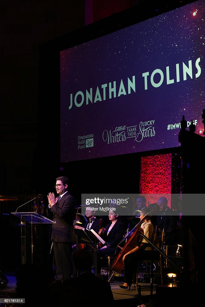Jonathan Tolins during the Dramatists Guild Fund Gala 'Great Writers Thank Their Lucky Stars : The Presidential Edition' presentation at Gotham Hall on November 7, 2016 in New York City.