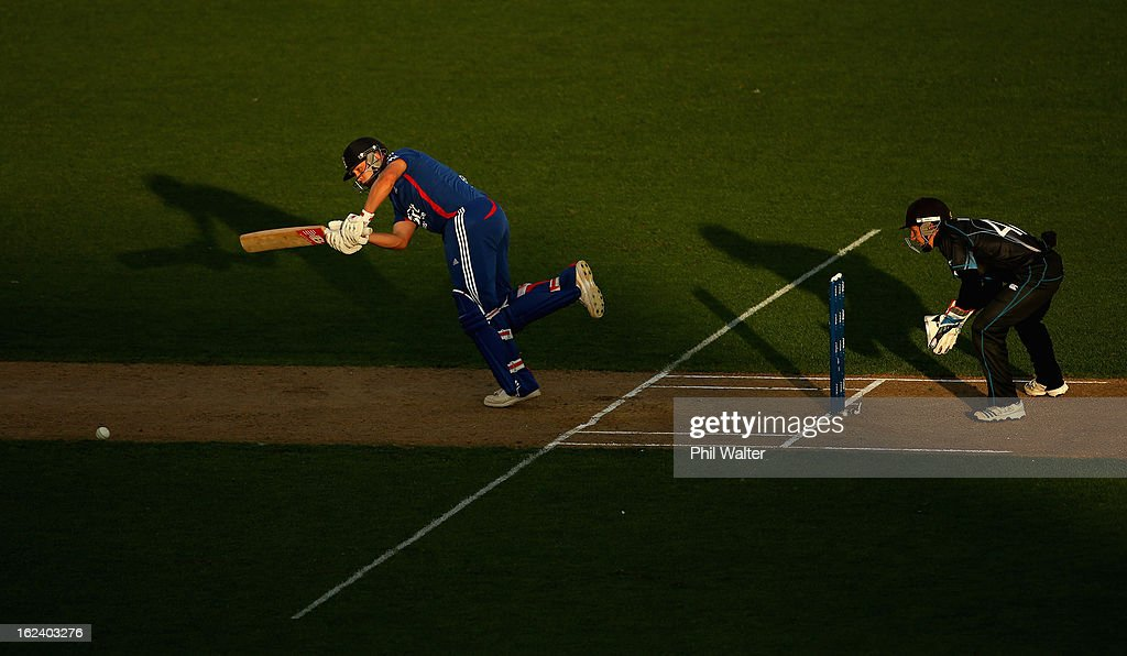 <a gi-track='captionPersonalityLinkClicked' href=/galleries/search?phrase=Jonathan+Trott&family=editorial&specificpeople=654505 ng-click='$event.stopPropagation()'>Jonathan Trott</a> of England bats during the third game in the International One Day series between New Zealand and England at Eden Park on February 23, 2013 in Auckland, New Zealand.