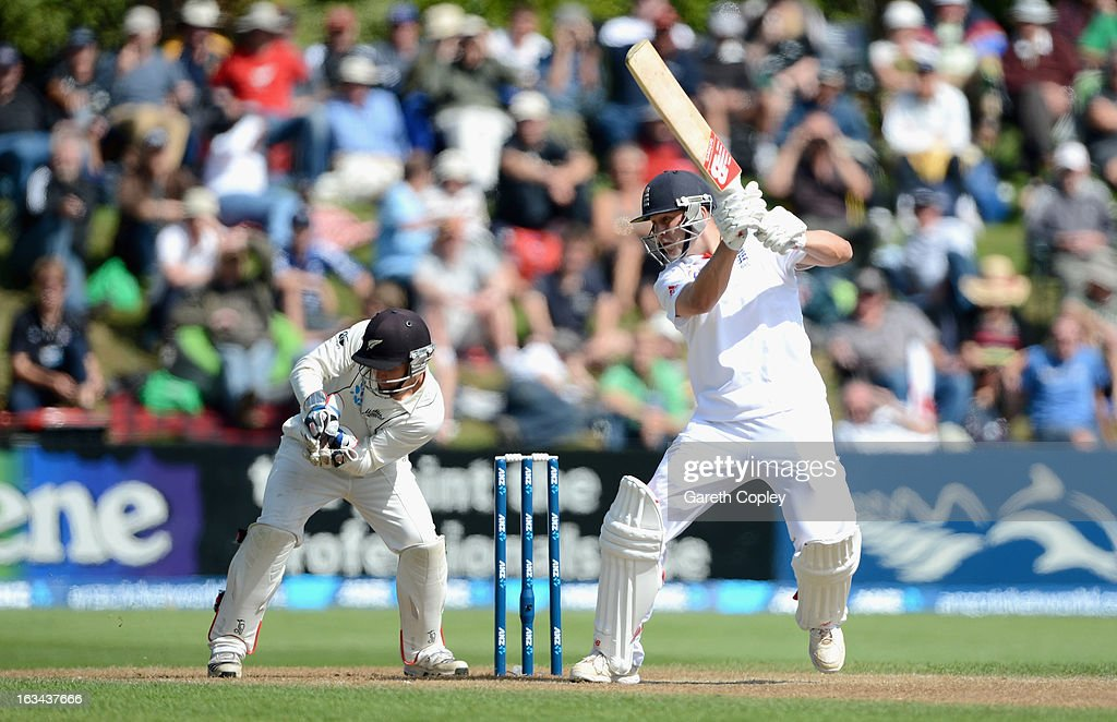 Jonathan Trott of England during day five of the First Test match between New Zealand and England at University Oval on March 10, 2013 in Dunedin, New Zealand.