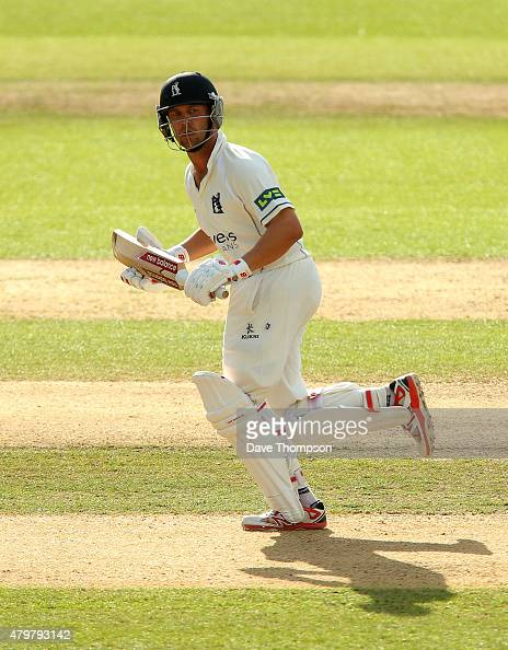 Jonathan Trott of Warwickshire during day three of the LV County Championship Division One match between Warwickshire and Yorkshire at Edgbaston on...
