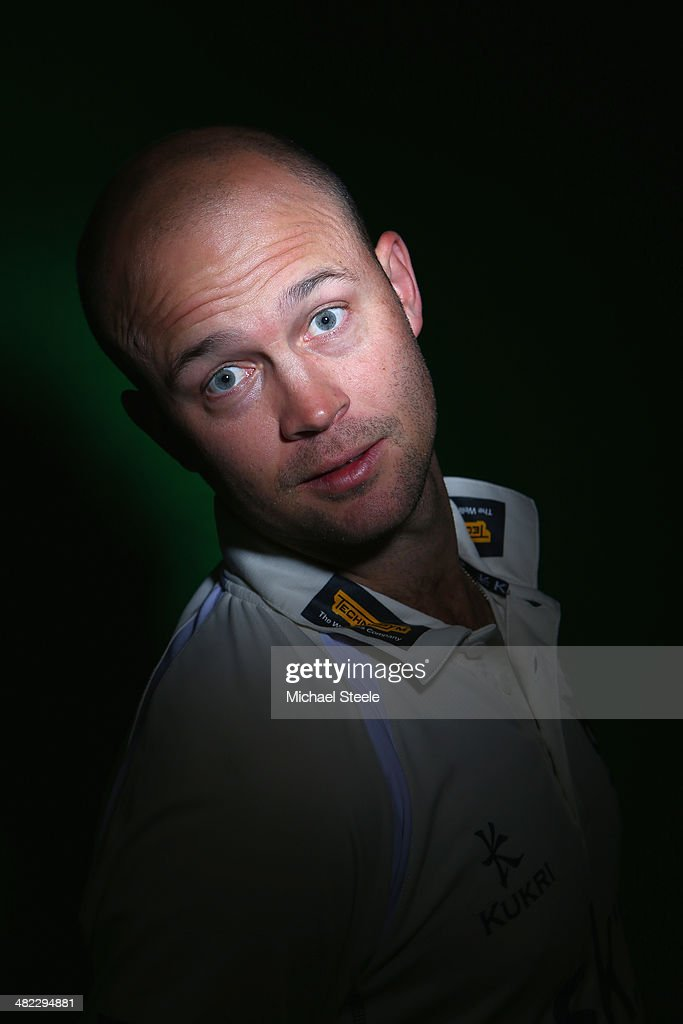 <a gi-track='captionPersonalityLinkClicked' href=/galleries/search?phrase=Jonathan+Trott&family=editorial&specificpeople=654505 ng-click='$event.stopPropagation()'>Jonathan Trott</a> of Warwickshire poses for a portrait during the Warwickshire CCC photocall at Edgbaston on April 3, 2014 in Birmingham, England.