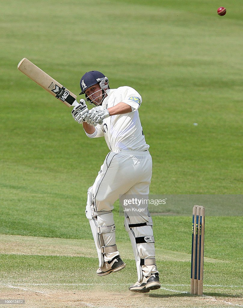 Jonathan Trott of Warwickshire works the ball to leg side during the LV County Championship Division One match between Warwickshire and Lancashire at Edgbaston on May 20, 2010 in Birmingham, England.