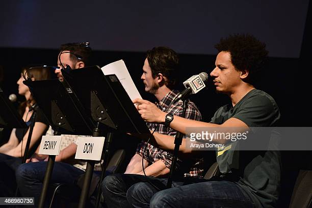 Jonathan Tucker and Eric Andre attend the Film Independent at LACMA presents Live Read of 'Dazed And Confused' at Bing Theatre At LACMA on March 19...