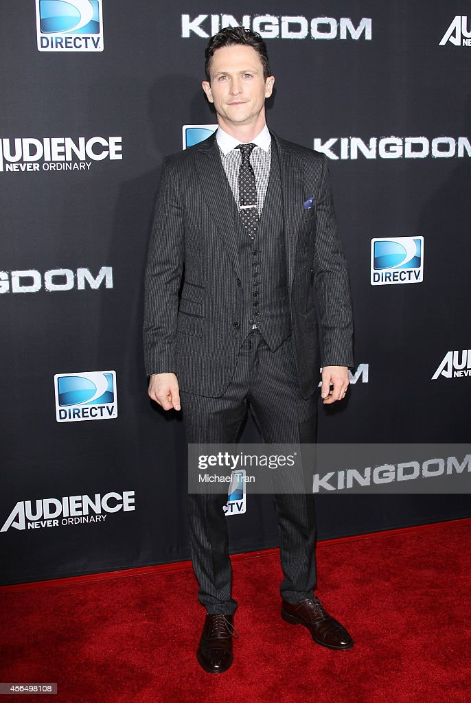 Jonathan Tucker arrives at the Los Angeles premiere of 'Kingdom' held at Muscle Beach on October 1 2014 in Venice California