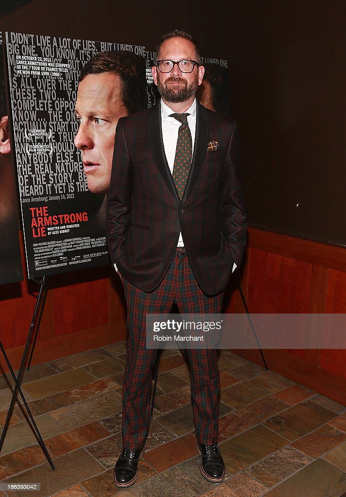Jonathan Vaughters attends 'The Armstrong Lie' New York premiere at Tribeca Grand Hotel on October 30, 2013 in New York City.