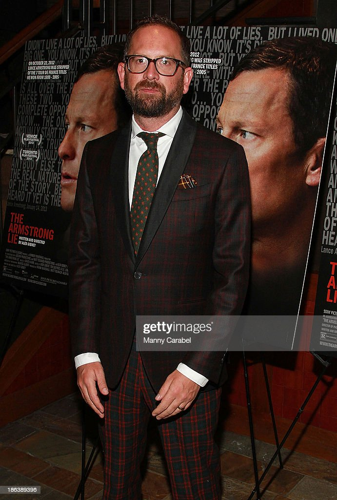 Jonathan Vaughters attends 'The Armstrong Lie' premiere at the Tribeca Grand Hotel on October 30, 2013 in New York City.