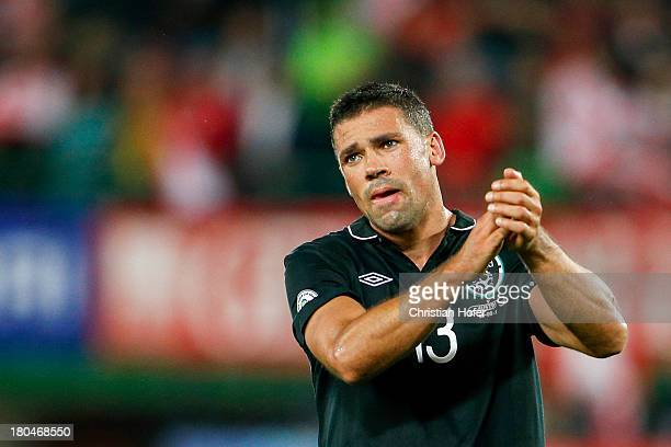 Jonathan Walters of Ireland looks disappointed after losing the FIFA World Cup 2014 Group C qualification match between Austria and the Republic of...