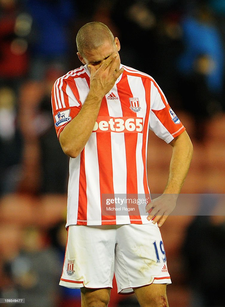 <a gi-track='captionPersonalityLinkClicked' href=/galleries/search?phrase=Jonathan+Walters&family=editorial&specificpeople=3389578 ng-click='$event.stopPropagation()'>Jonathan Walters</a> of Stoke City reacts after missing a penalty during the Barclays Premier League match between Stoke City and Chelsea at the Britannia Stadium on January 12, 2013, in Stoke-on-Trent, England.