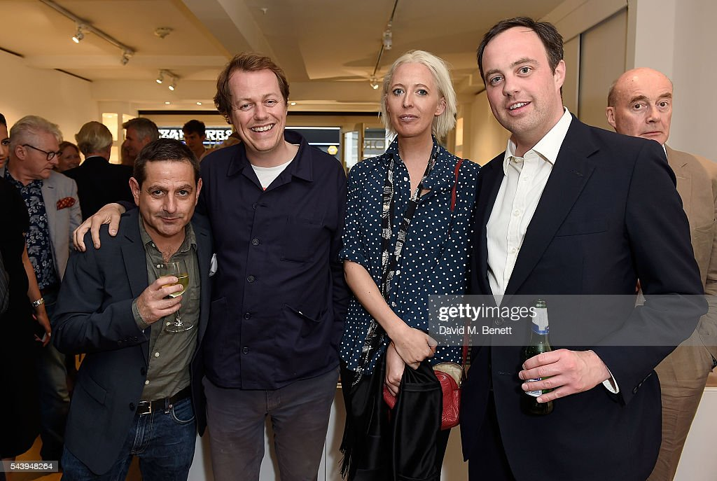 Jonathan Weisfeld, Tom Parket Bowles, <a gi-track='captionPersonalityLinkClicked' href=/galleries/search?phrase=Sophia+Hesketh&family=editorial&specificpeople=712342 ng-click='$event.stopPropagation()'>Sophia Hesketh</a> and William Buckhurst attend the exhibition launch party of 'The Zero Hour Panoramas' by Jolyon Fenwick. The exhibition consists of 14 photographic panoramas showcasing, '100 Years on: Views From The Parapet of the Somme', at Sladmore Contemporary on June 30, 2016 in London, England.