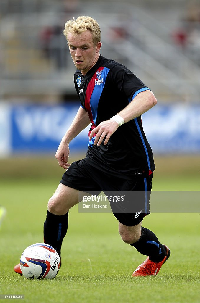 Jonathan Williams of Crystal Palace in action during a pre season friendly match between Dagenham and Redbridge and Crystal Palace at The London Borough of Barking and Dagenham Stadium on July 20, 2013 in Dagenhm, England.