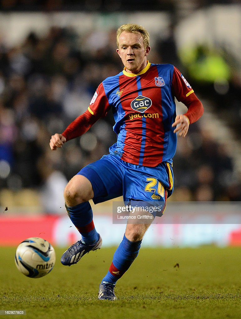 Jonathan Williams of Crystal Palace in action during the npower Championship match between Derby County and Crystal Palace at Pride Park Stadium on March 1, 2013 in Derby, England.