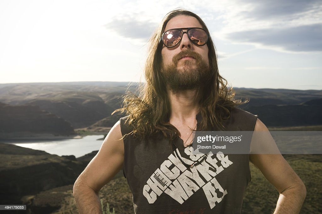 Jonathan Wilson poses for a portrait backstage on day 2 of Sasquatch! Music Festival at the Gorge Amphitheater on May 24, 2014 in George, United States.