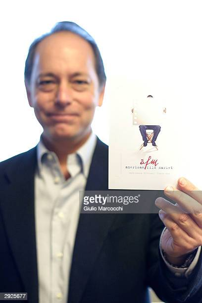 Jonathan Wolf Executive Vice President of AFMA and Managing Director of the American Film Market attends the AFMA Press Conference on February 03...